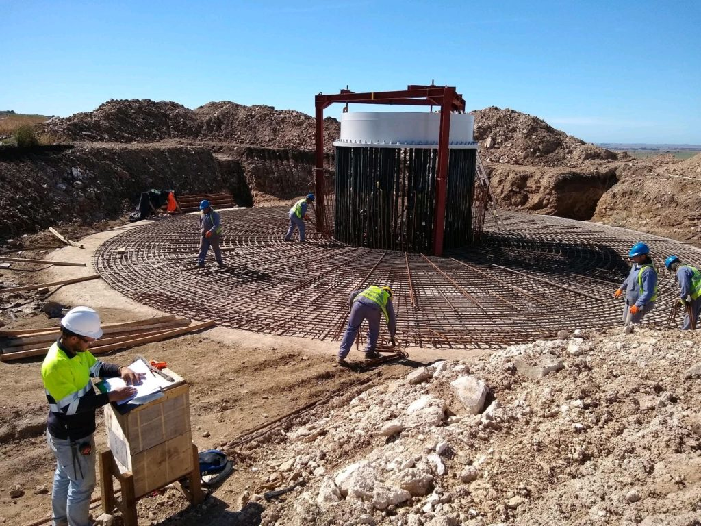 CTEE Ibérica ha llevado a cabo el diseño constructivo de las cimentaciones para los 32 aerogeneradores del parque eólico Los Teros en Argentina