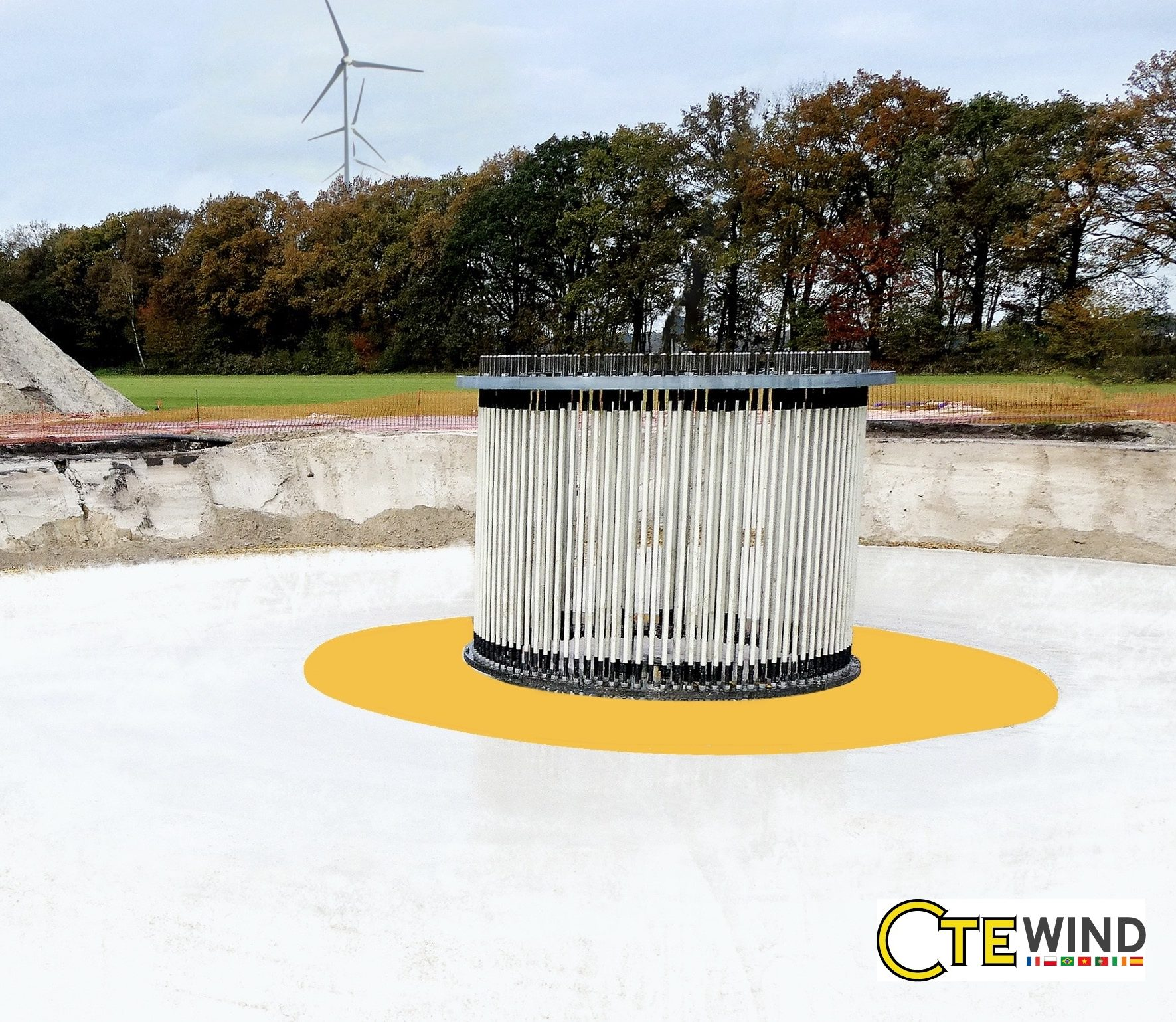 750 wind turbines around the globe are using CTE Wind's Soft-spot® solution. The yellow circle outlines the soft layer.